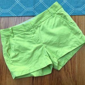 {J. Crew} Lime green chino shorts, 4